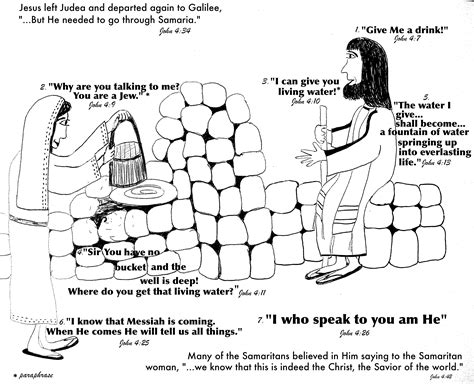 preschool coloring pages woman at the well samaria woman at the well aunties bible lessons