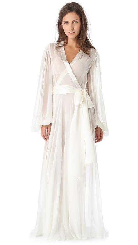 white robe packham robe in white lyst