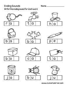 kindergarten activities ending sounds ending letter sounds kindergarten worksheets ending best
