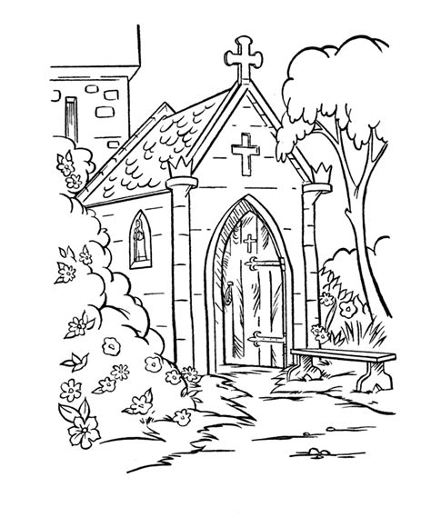 church coloring pages coloring home