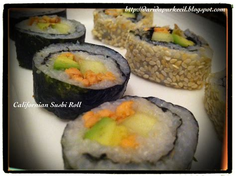 Pasaran Minyak Wijen cooking with for the loved ones californian sushi