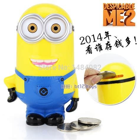 sale gift new lovely stealing coins despicable me minion cent saving money box pot