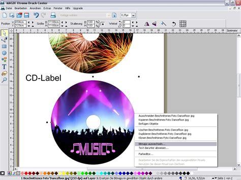 Cd Etiketten Drucken Software Kostenlos by Magix Xtreme Druck Center Bei Freeware