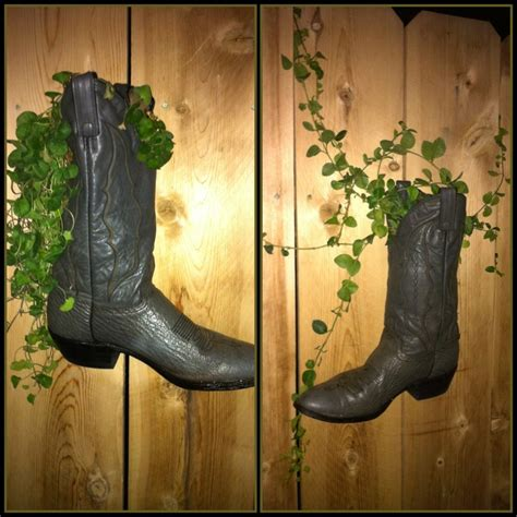 Large Cowboy Boot Planter by Boot Planters Diy Boots Creative