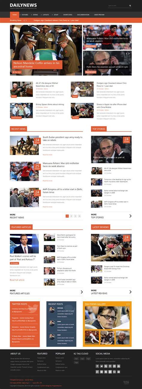 Dailynews Joomla Magazine News Content Template Joomla Magazine Template