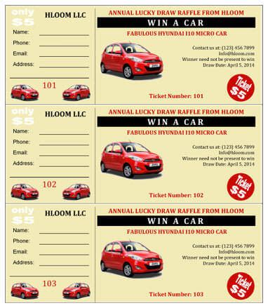 templates for car window cards for car shows 15 free raffle ticket templates in microsoft word mail merge