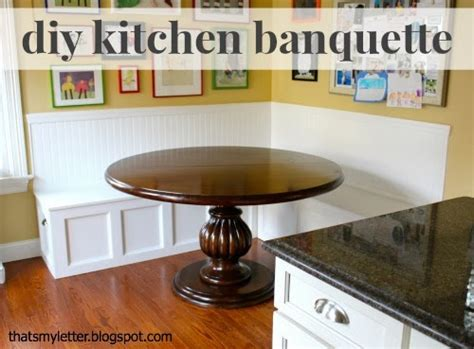 That S My Letter Diy Kitchen Banquette