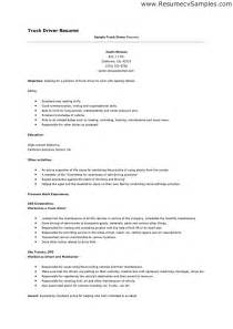 resume summary of qualifications sles truck driver resume sa sales driver lewesmr