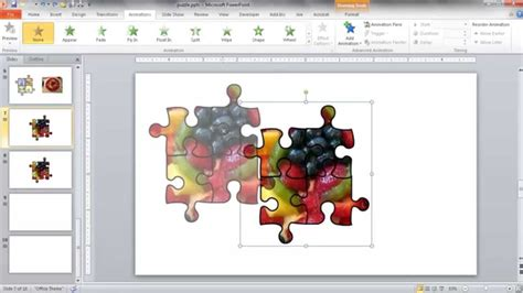 Create A Jigsaw Puzzle Image In Powerpoint Youtube How To Create Jigsaw Puzzle In Powerpoint