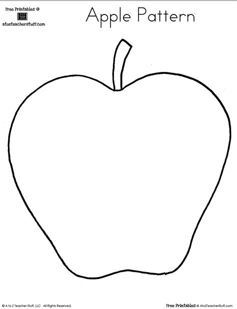 shaped templates blank apple writing page or shape book free printable