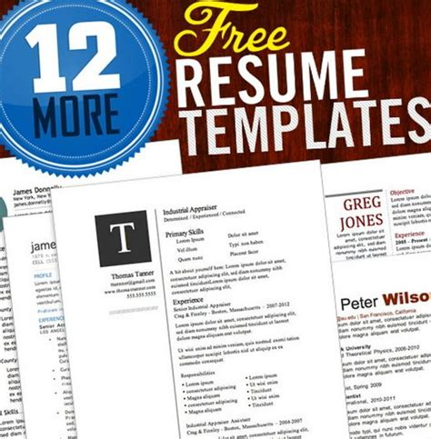 unique resume templates free word 35 free creative resume cv templates xdesigns