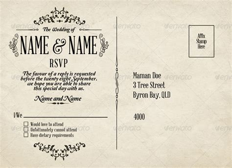 rsvp card template for wedding and welcome 15 premium printable wedding templates