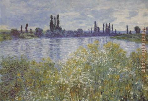 on the bank of the seine claude monet bank of the seine v theuil painting anysize
