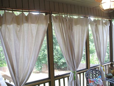 drop curtains patio drop cloth curtain tutorial for the screened in patio