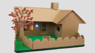 making house building cardboard house garden villa dream house youtube
