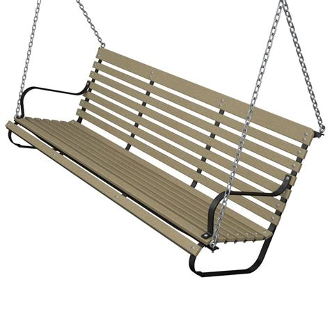 terrace 60 in black and black patio swing ivs60fblbl
