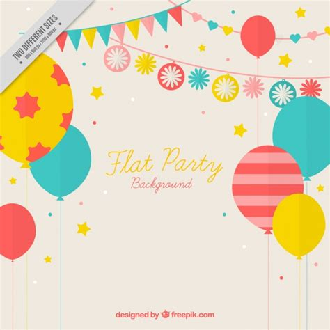 happy birthday flat design vintage background of birthday balloons in flat design