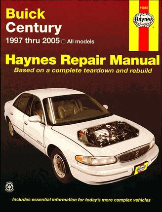 best auto repair manual 2005 buick century regenerative braking buick century repair service manual 1997 2005 haynes 19010