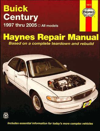 buick century repair service manual 1997 2005 haynes 19010