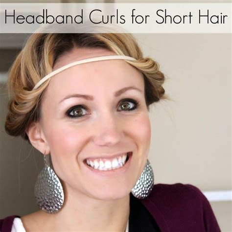 headband hairstyles for work headband curls can work for short hair too how to make