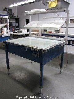 backlit drafting table west auctions complete liquidation of sign fabrication