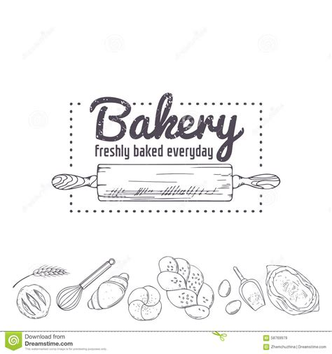 baking templates bakery logo template rolling pin and baking