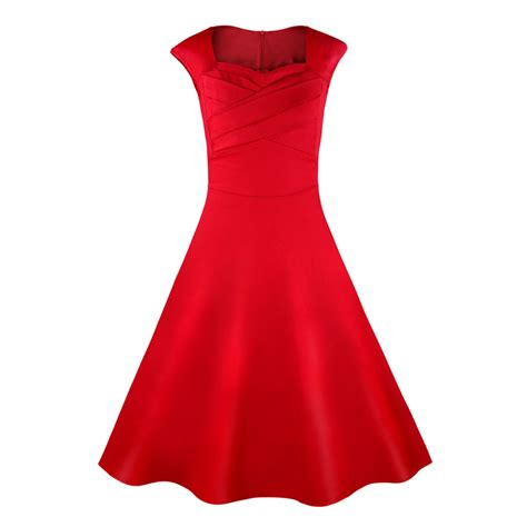 red swing dress vintage 1950 s vintage retro red cotton party cocktail swing dress
