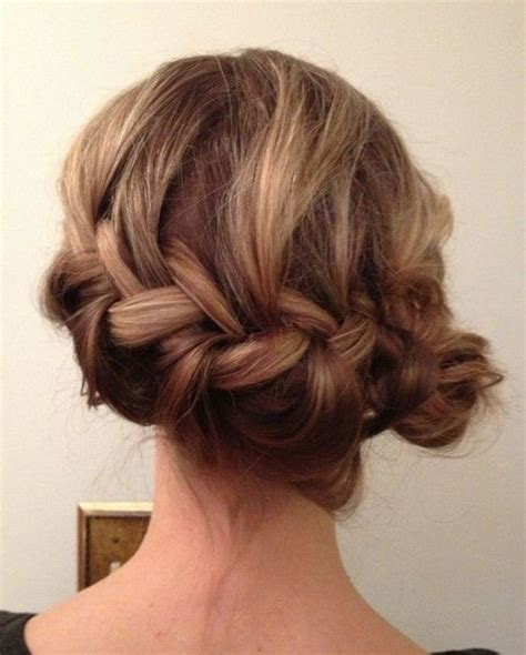 formal hairstyles messy bun with braid 1000 images about hair ideas on pinterest updo silver