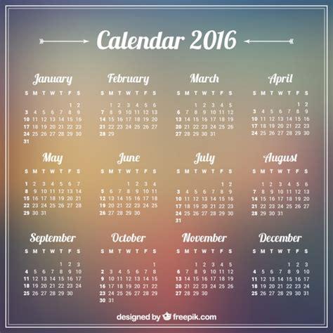 Calendario 2016 Con Settimane 2016 Calendario En El Fondo Borroso Descargar