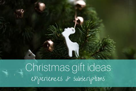 christmas gift experience ideas gift ideas 2017 experiences and subscription planning with