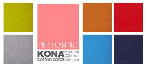 kona color 2017 kona cotton color of the year pink flamingo