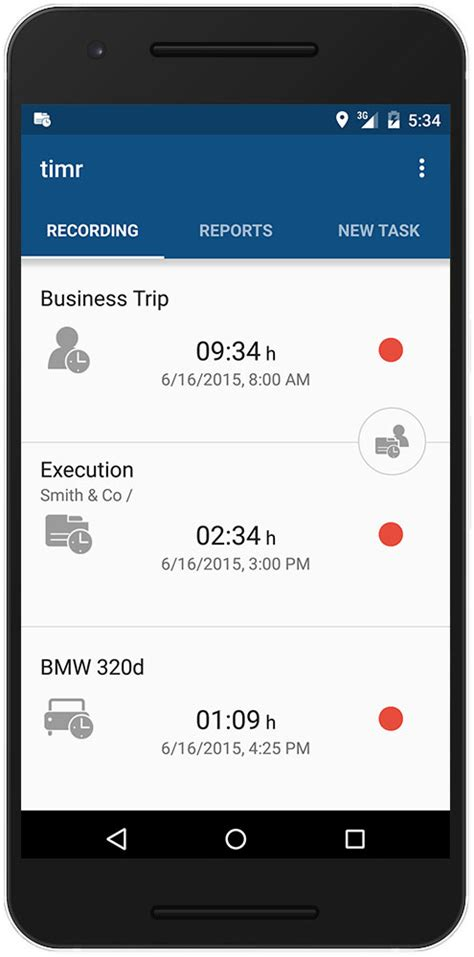 tracking app for android timr easy to use time tracking android app