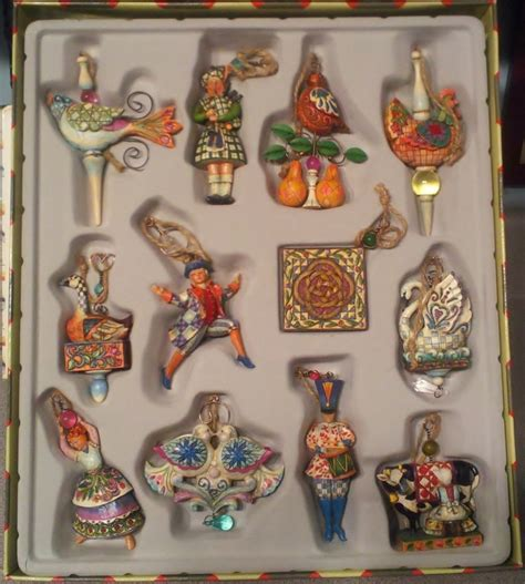 jim shore twelve days of christmas ornaments set of 12