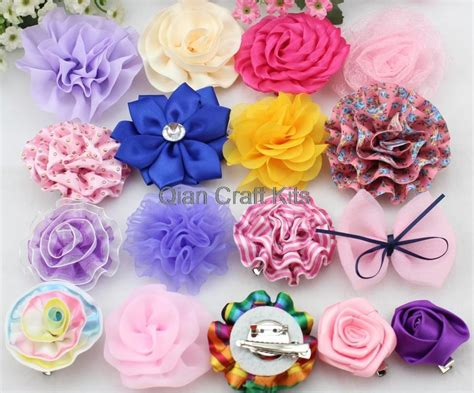 Handmade Fabric Flowers Patterns - compare prices on brooch hair pieces shopping buy