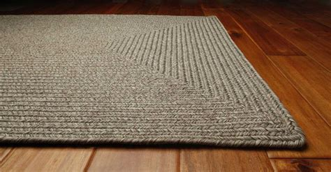 Area Rugs Braided Homespice Decor Ultra Durable Braided Rectangular White Area Rug Slate