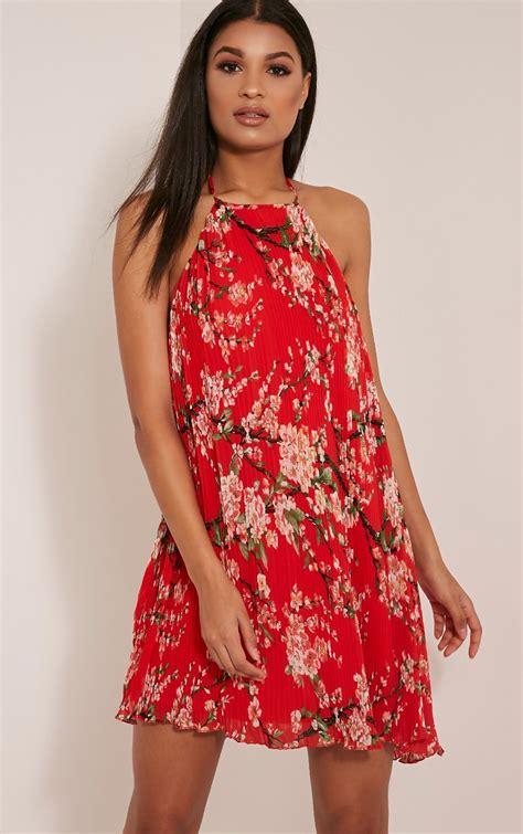 oriental swing melissa red oriental pleated swing dress dresslover uk