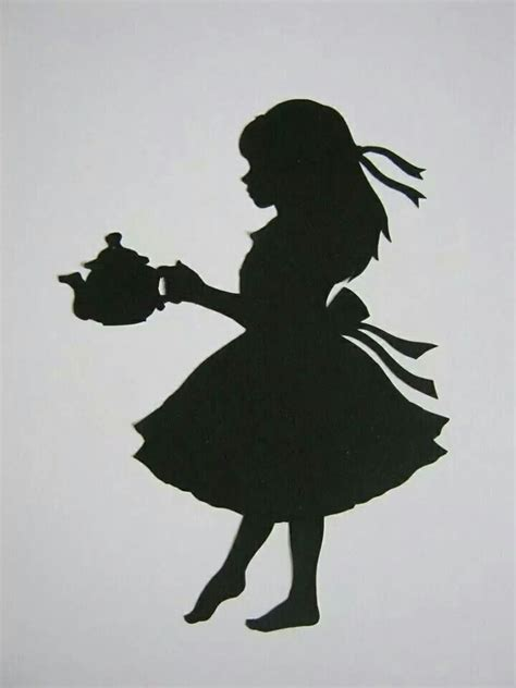 silhouette tattoo paper uk black and white alice in wonderland tattoes pinterest