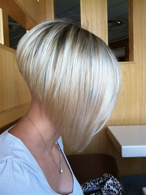 dramatic short back long front bob undercut fade inverted v nape woman google search cute