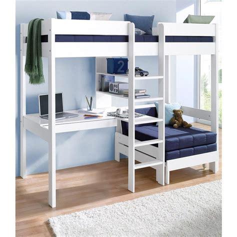 lit mezzanine 140 avec bureau lit mezzanine avec plan de travail 233 tag 232 res blanc