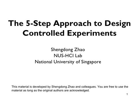 design experiment control the 5 step approach to controlled experiment design for