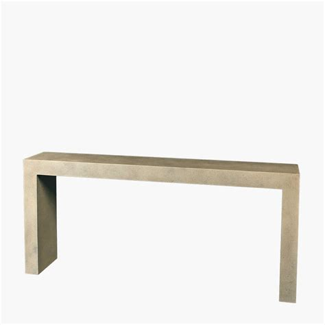 c shaped console table composite cast parsons console table yard inc