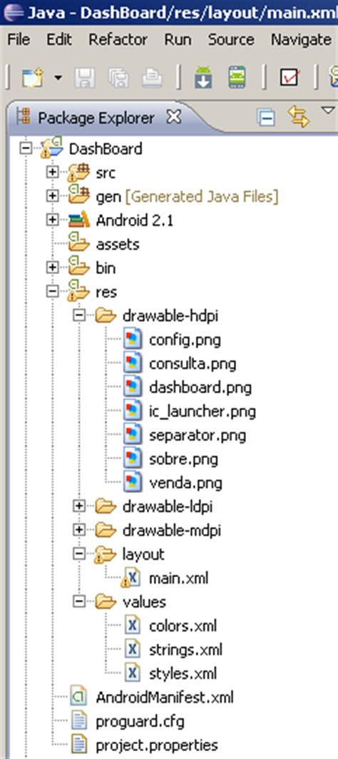 xml pattern w escola de android pattern dashboard