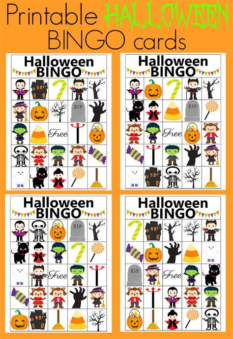 printable halloween bingo cards with pictures halloween bingo gallery