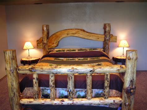 Log Wood Bed Frame Bed Frames