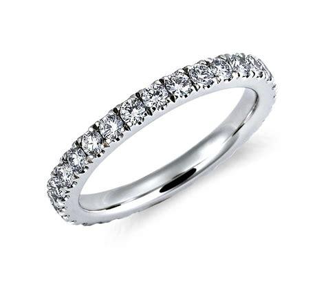 nouveau eternity ring in platinum 1 ct tw blue nile