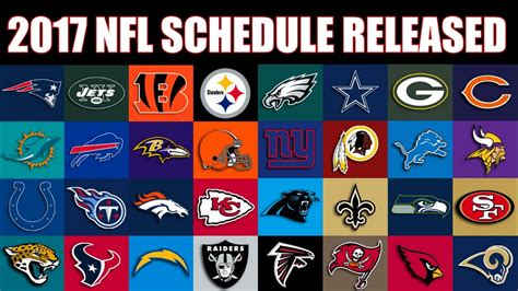2017 nfl schedule release 2017 nfl schedule has been released youtube