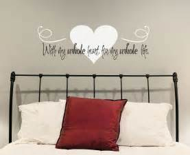 love wall decal with whole heart for householdwords full decals home murals colorful