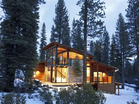 mountain cabin lake modern mountain house lake tahoe camp