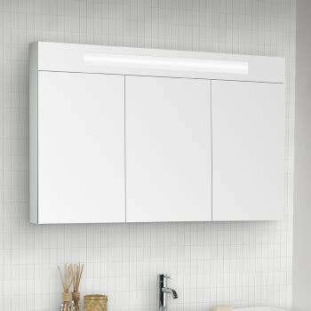 Spiegelschrank 3 Türig Mit Beleuchtung by Scanbad Modern Spiegelschrank Mit Beleuchtung Oben