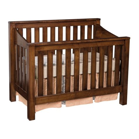 Crib Slats by Mission Convertible Slat Crib Amish Made Modern Crib